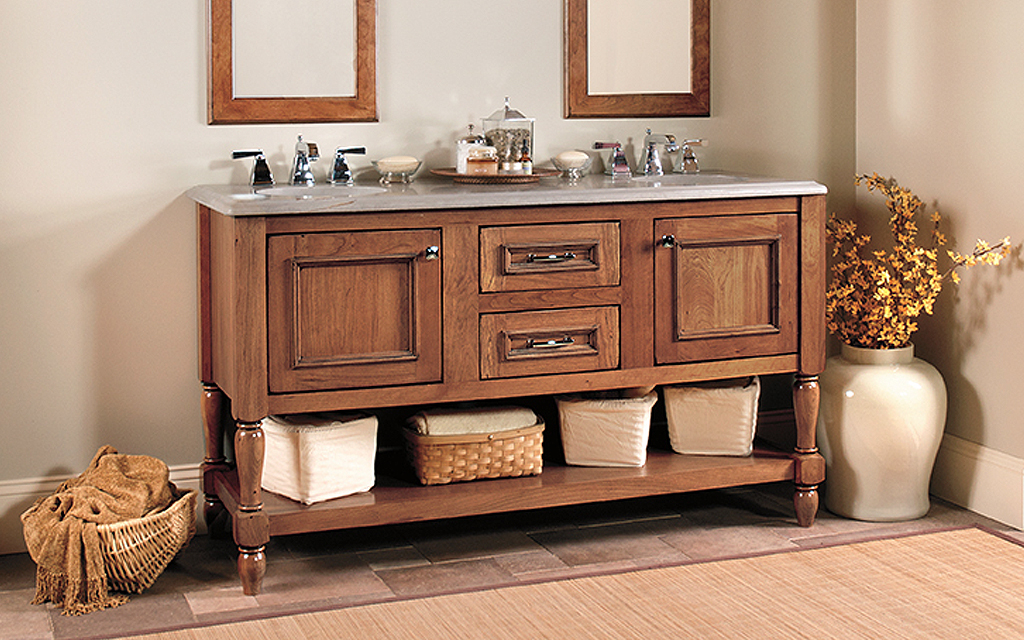 Wellborn Farmhouse Bathroom Cabinets