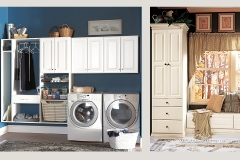transitional Laundry Room Cabinets